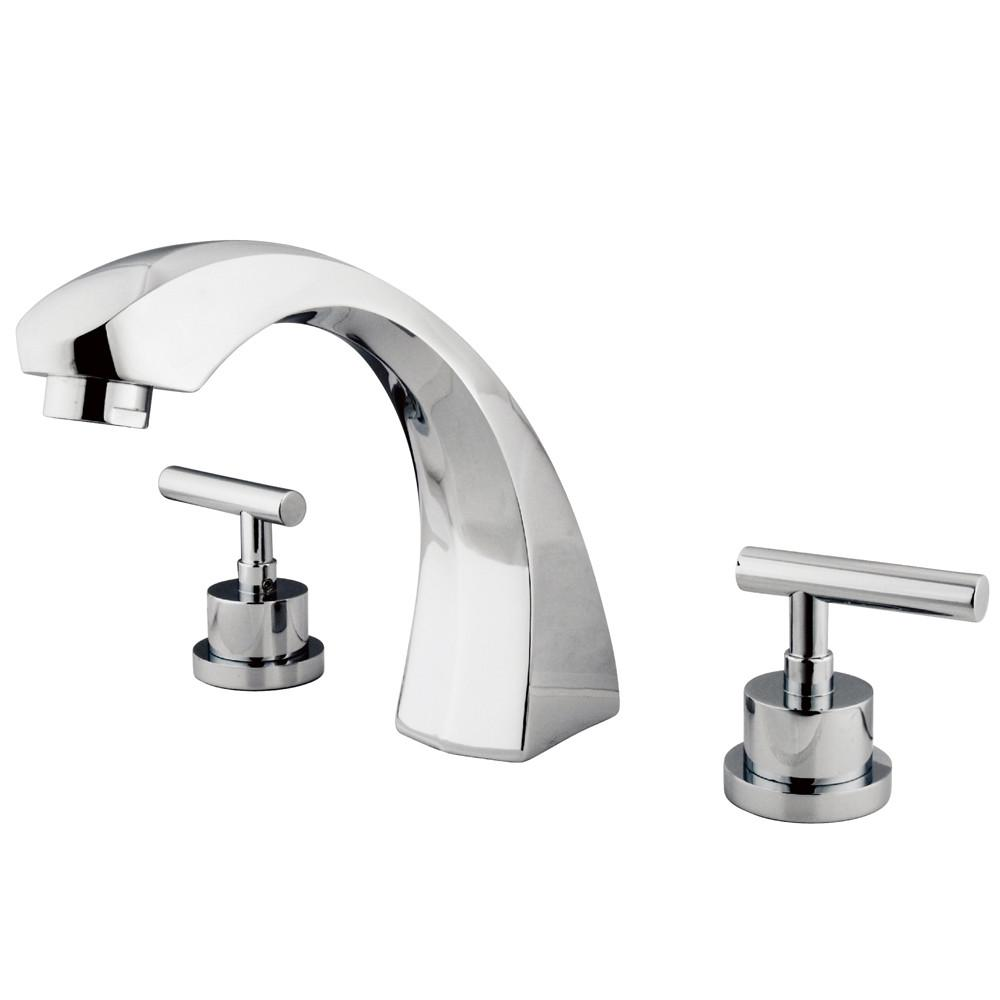 Kingston Brass Chrome Manhattan roman tub filler faucet KS4361CML
