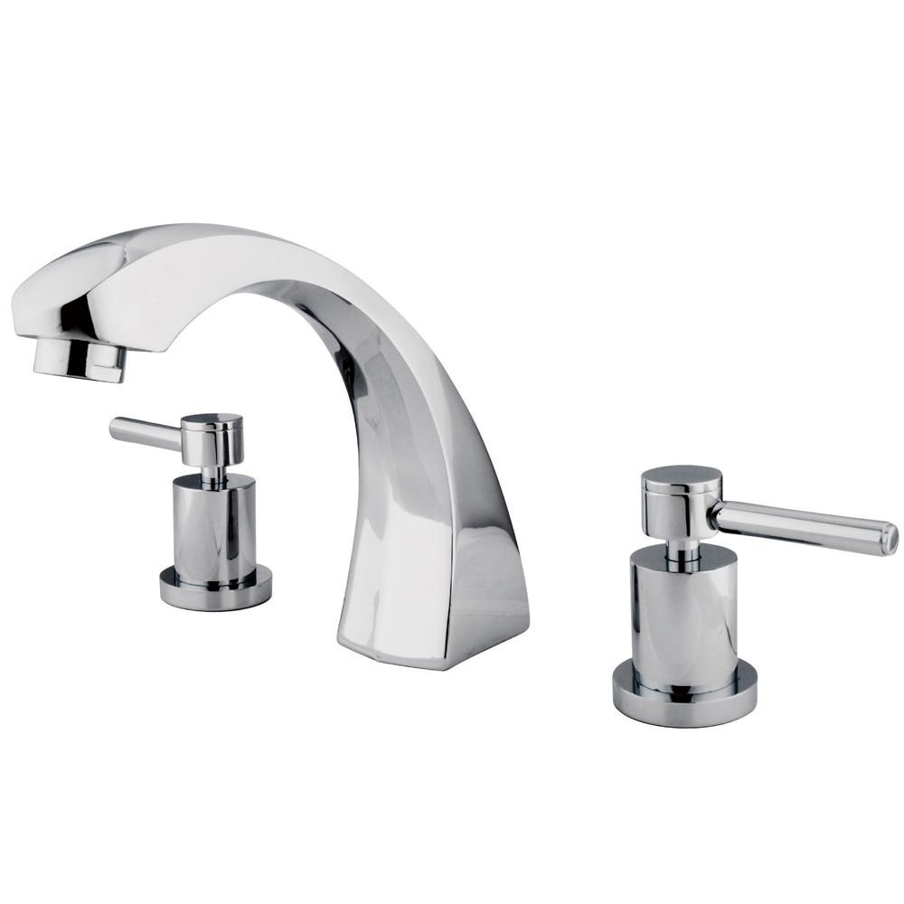 Kingston Brass Concord Chrome Two Handle Roman tub filler faucet KS4361DL
