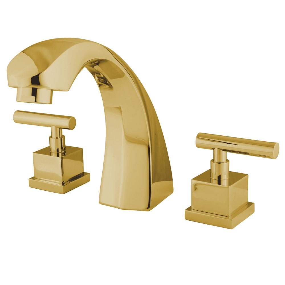 Kingston Brass Claremont Polished Brass Roman Tub Filler Faucet KS4362CQL