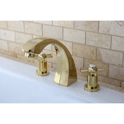 Kingston Brass KS4362ZX 2 Handle Roman Tub Filler Polished Brass