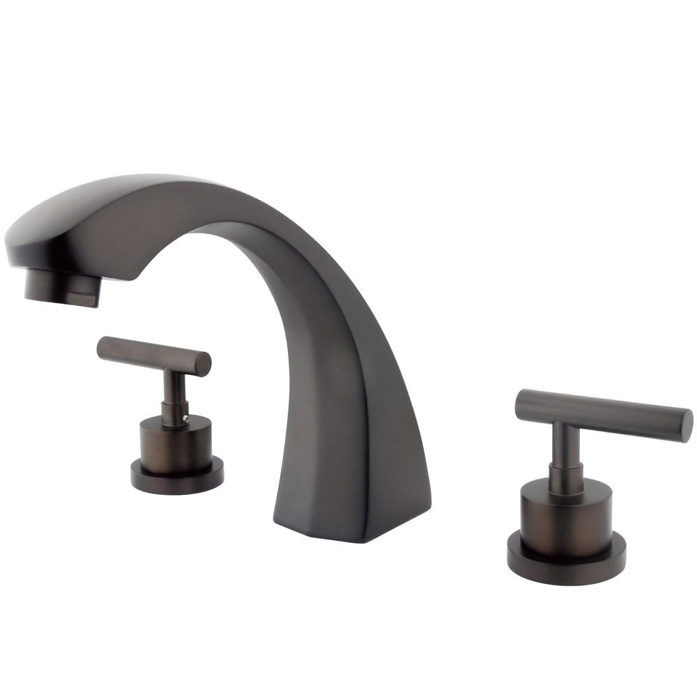 Kingston Brass Oil Rubbed Bronze Manhattan roman tub filler faucet KS4365CML