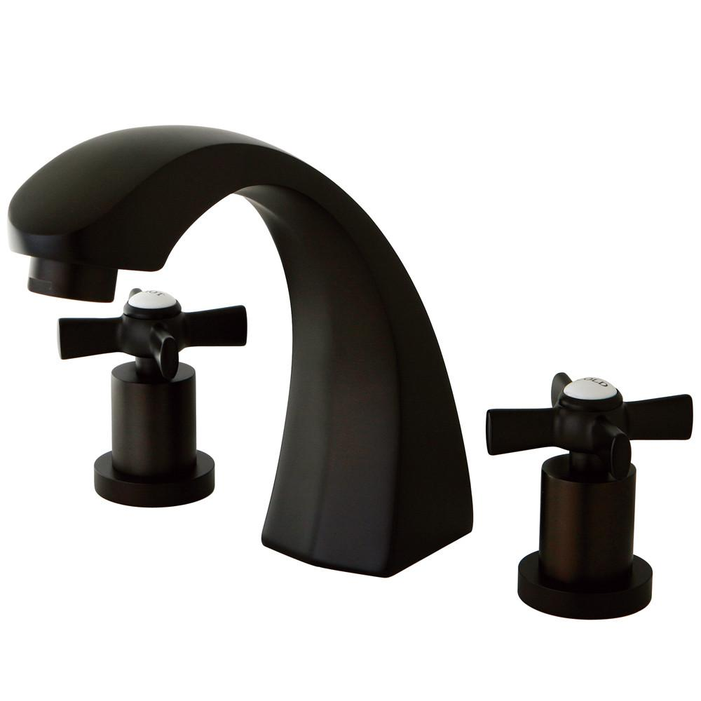 Kingston Brass KS4365ZX 2 Handle Roman Tub Filler Oil Rubbed Bronze