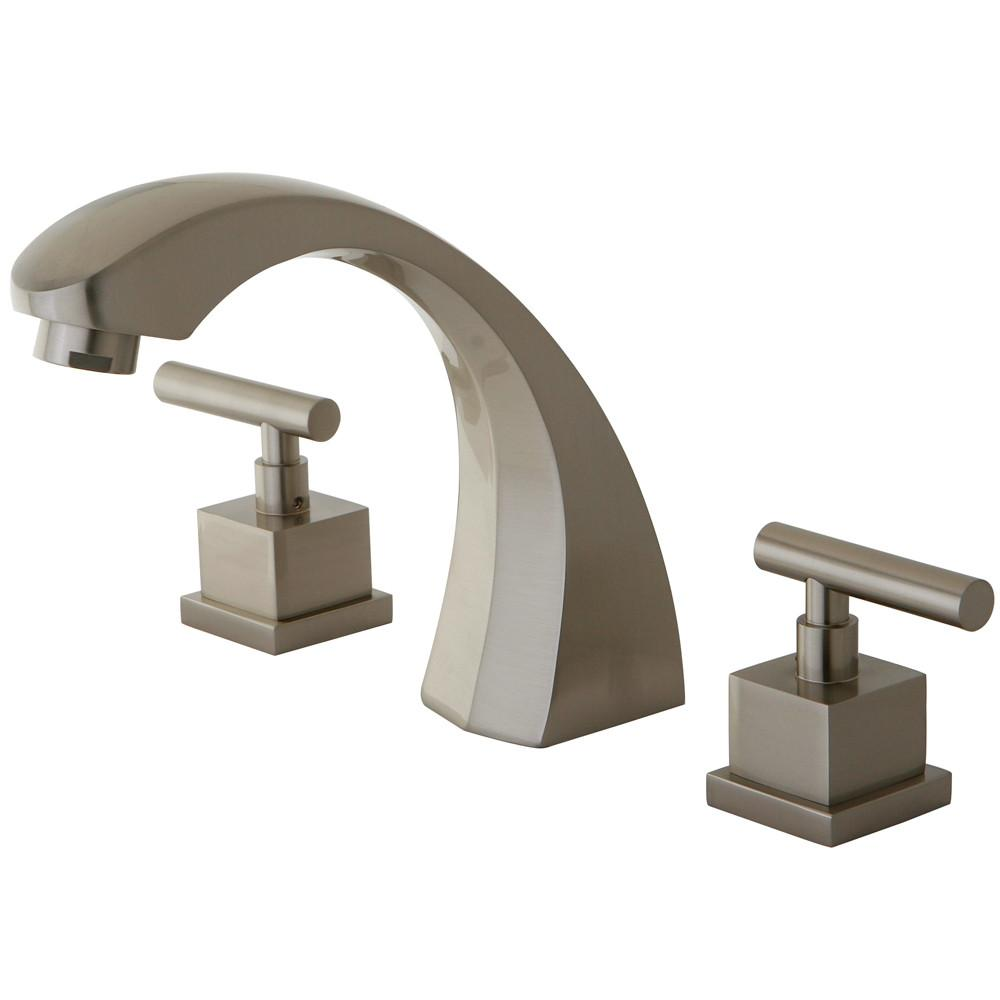 Kingston Brass Claremont Satin Nickel Roman Tub Filler Faucet w/valve KS4368CQL
