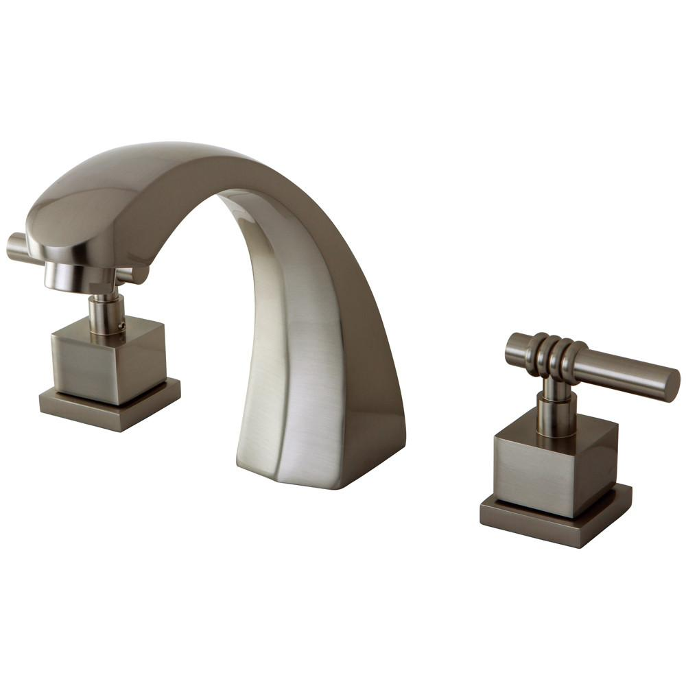 Kingston Brass Satin Nickel Fortress Two Handle Roman Tub Filler Faucet KS4368QL