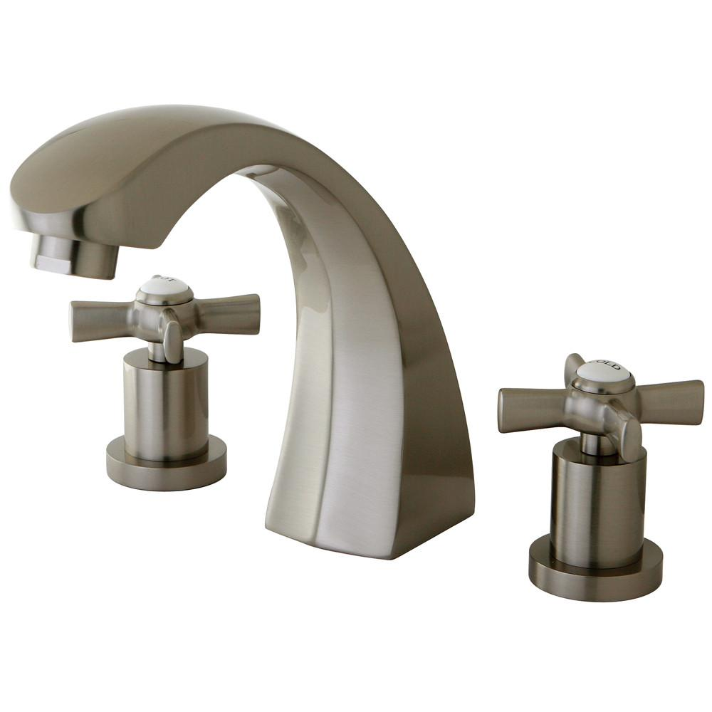 Kingston Brass KS4368ZX 2 Handle Roman Tub Filler Satin Nickel