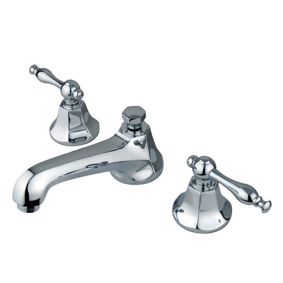 Kingston Brass Chrome 2 Handle Widespread Bathroom Faucet w Pop-up KS4461NL