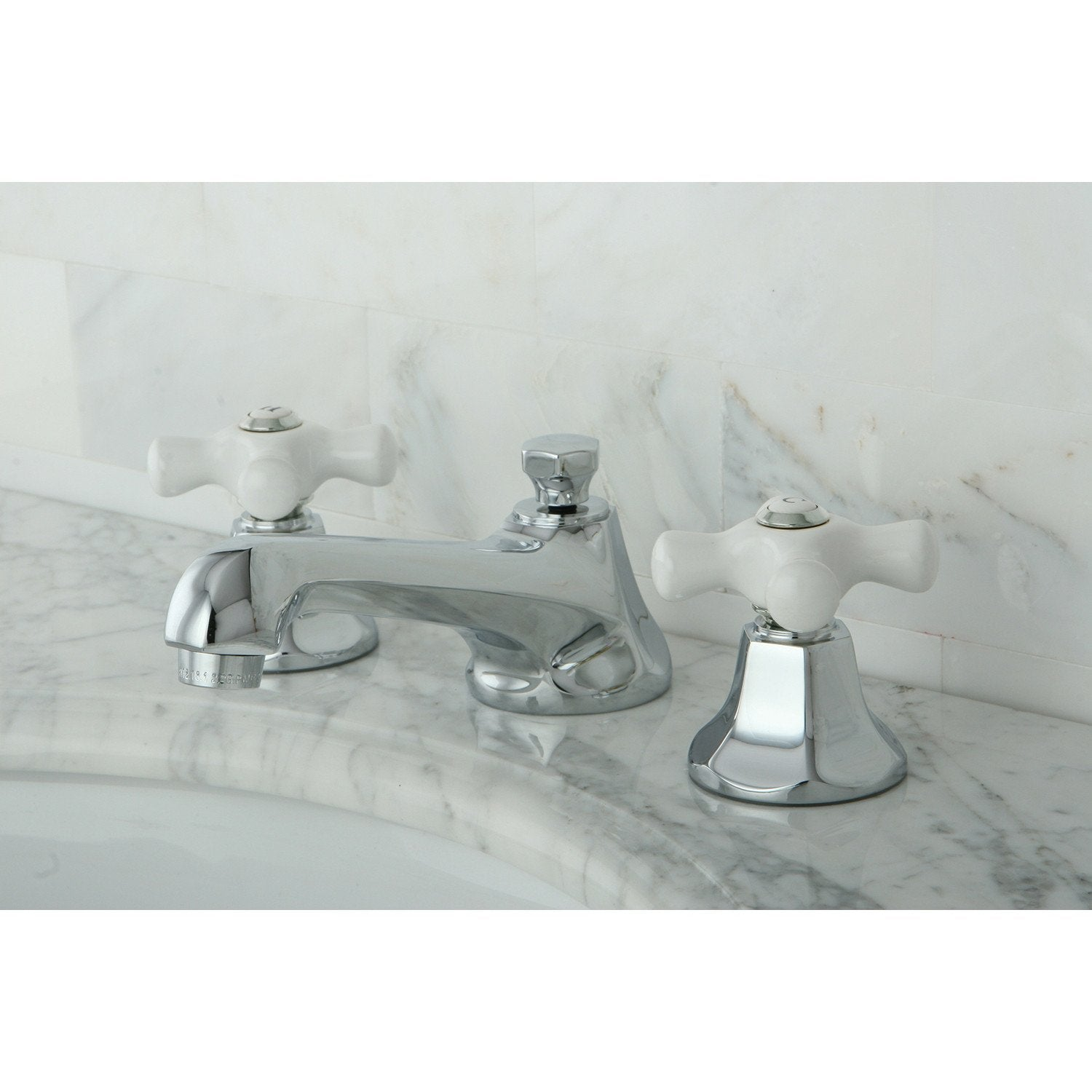 Kingston Brass Chrome 2 Handle Widespread Bathroom Faucet w Pop-up KS4461PX
