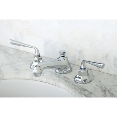 Kingston Brass Silver Sage Chrome Widespread Bathroom Lavatory Faucet KS4461ZL
