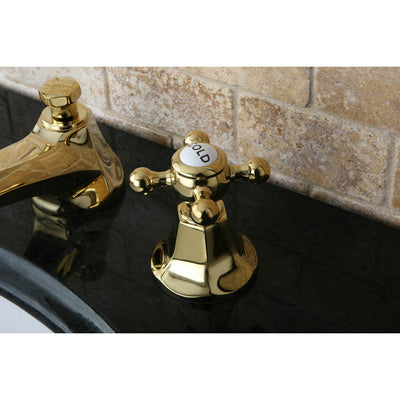 Kingston Polished Brass 2 Handle Widespread Bathroom Faucet w Pop-up KS4462BX