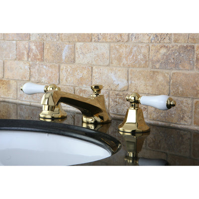 Kingston Polished Brass 2 Handle Widespread Bathroom Faucet w Pop-up KS4462PL
