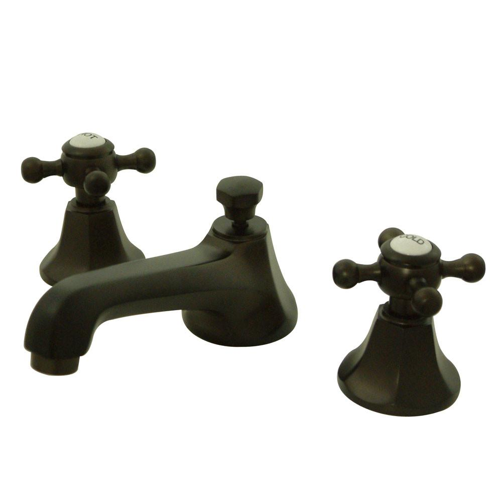 Kingston Oil Rubbed Bronze 2 Handle Widespread Bathroom Faucet w Pop-up KS4465BX