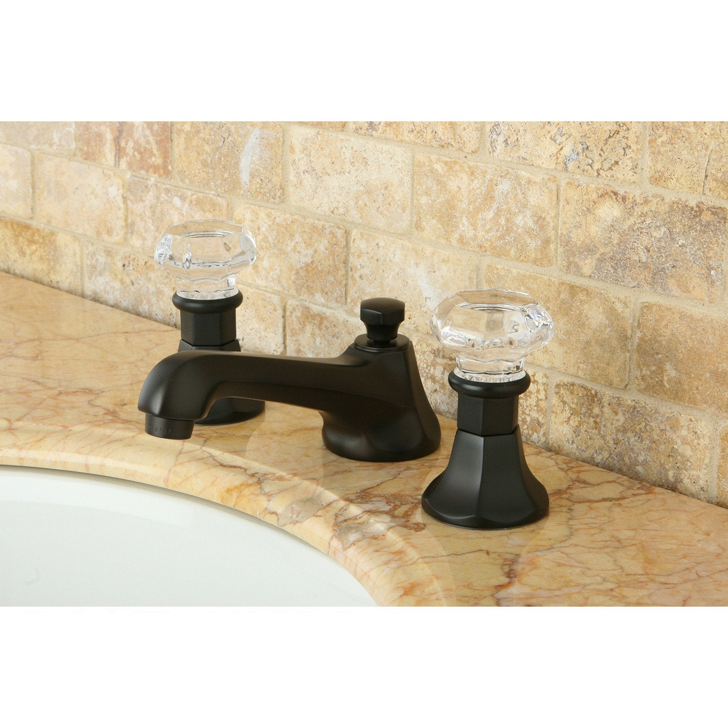 Kingston Oil Rubbed Bronze 2 Handle Widespread Bathroom Faucet w Pop-up KS4465WCL