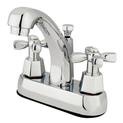 "Kingston Brass Chrome 2 Handle 4"" Centerset Bathroom Faucet w Pop-up KS4611HX"