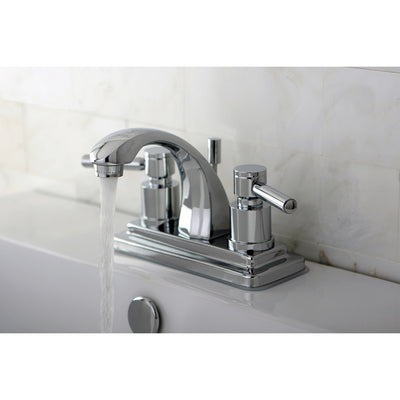 Chrome Two Handle Centerset Bathroom Faucet w/ Brass Pop-Up KS4641DL