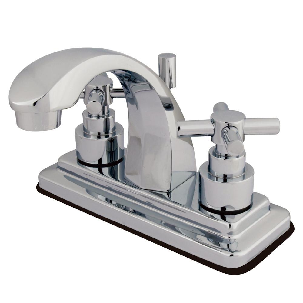 "Kingston Brass Chrome 2 Handle 4"" Centerset Bathroom Faucet w Pop-up KS4641EX"