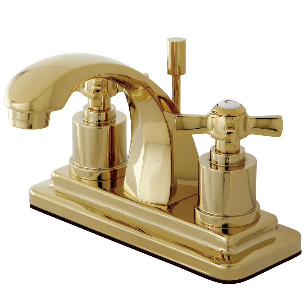 "Kingston Brass KS4642ZX 4"" Centerset Bathroom Faucet Polished Brass"