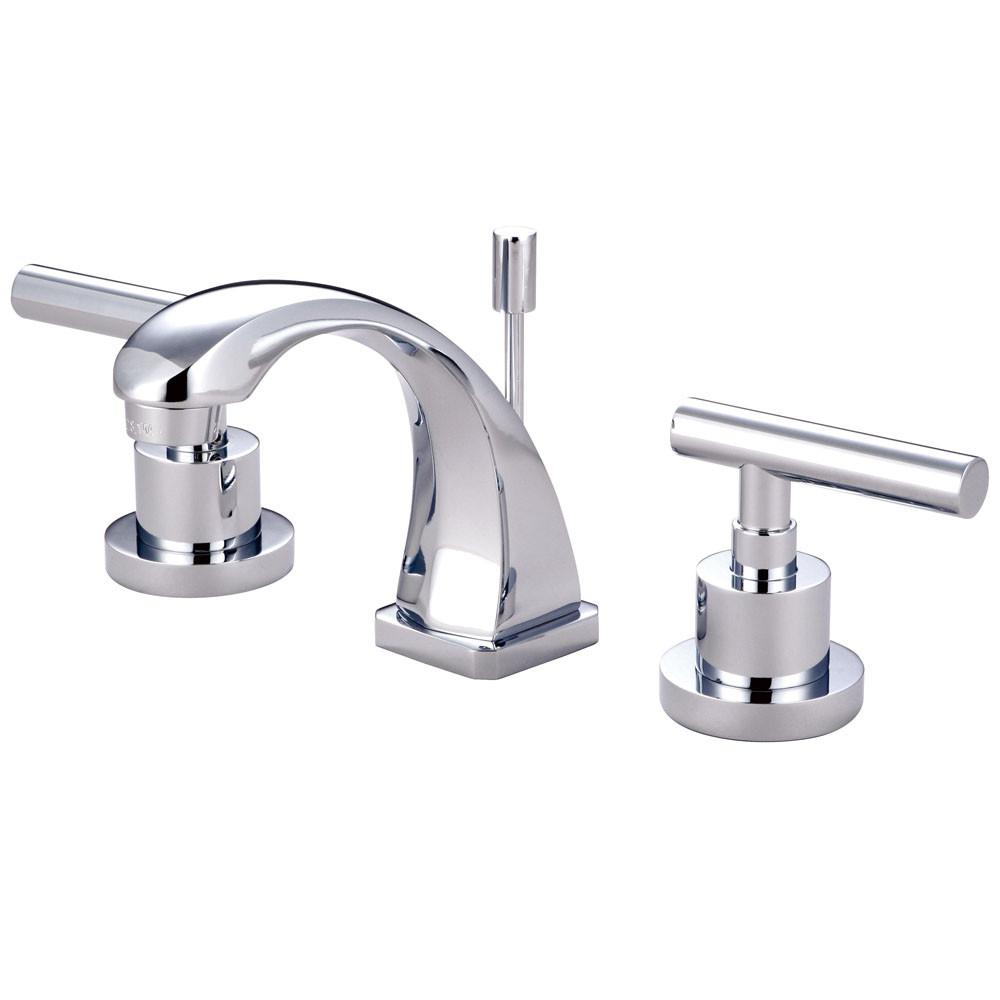 Kingston Brass Chrome Manhattan mini widespread Bathroom faucet KS4941CML