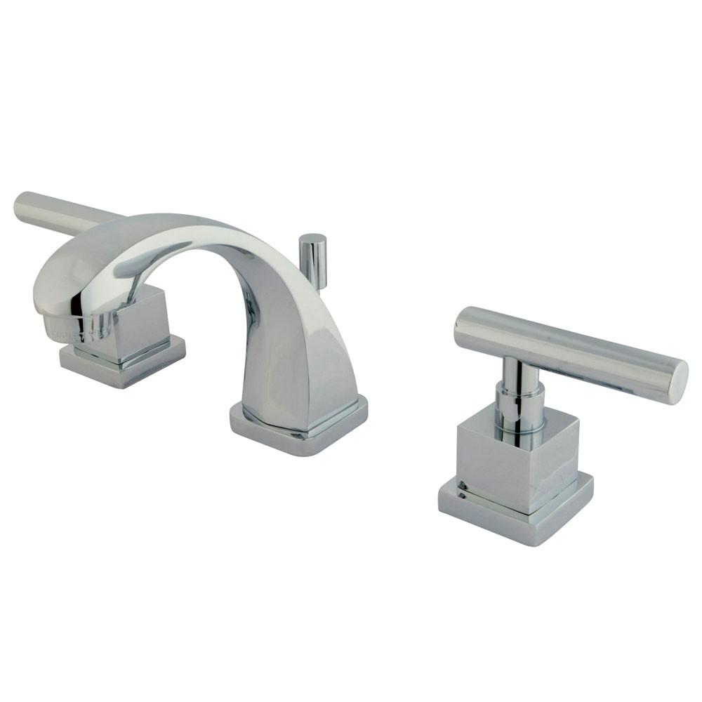 Kingston Claremont Chrome Mini-Widespread Bathroom Faucet with Pop-up KS4941CQL