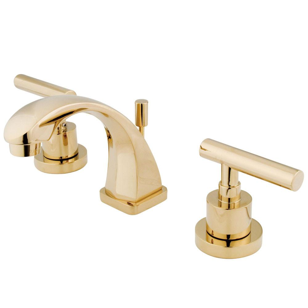 Kingston Polished Brass Manhattan mini widespread Bathroom faucet KS4942CML