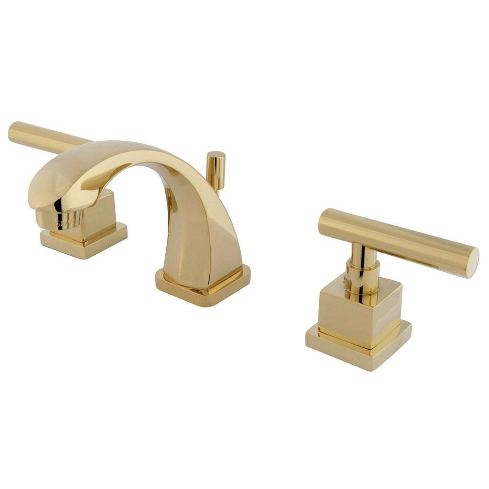 Kingston Claremont Polished Brass Mini-Widespread Bathroom Faucet KS4942CQL