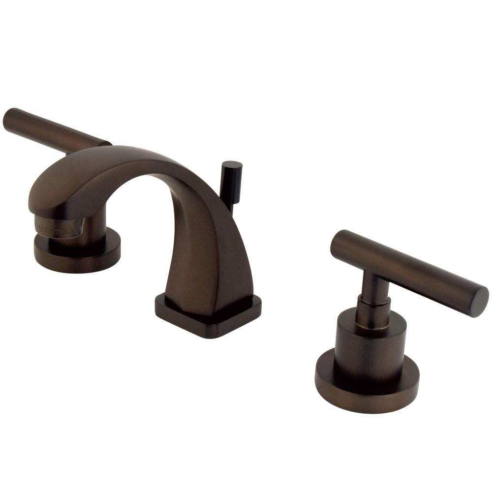 Kingston Oil Rubbed Bronze Manhattan mini widespread Bathroom faucet KS4945CML