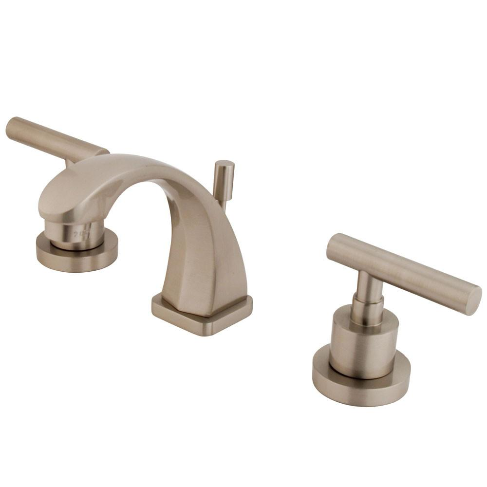 Kingston Brass Satin Nickel Manhattan mini widespread Bathroom faucet KS4948CML