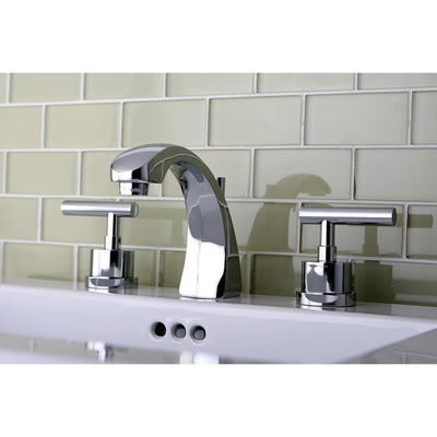"Kingston Brass Chrome Manhattan 8"" widespread Bathroom faucet KS4981CML"