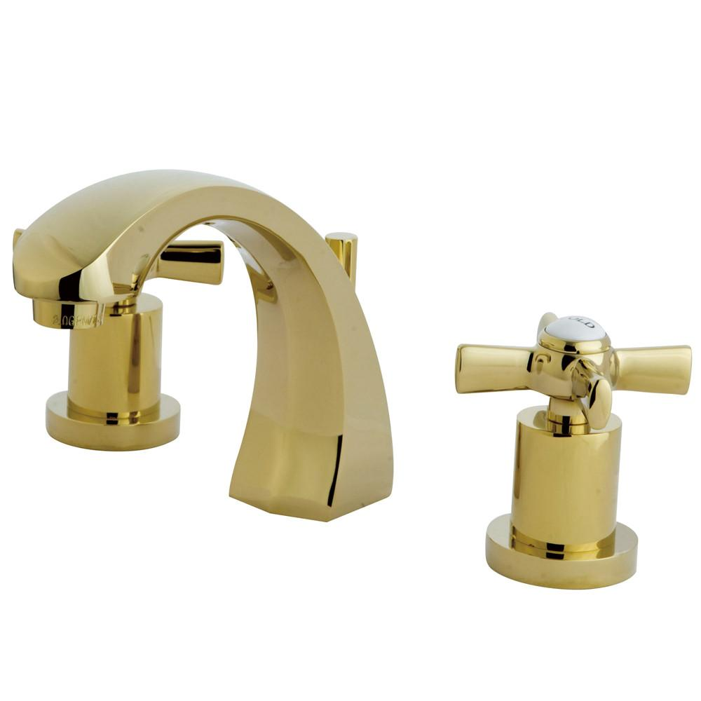 Kingston Brass KS4982ZX Widespread Bathroom Faucet Polished Brass