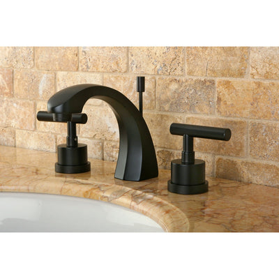 "Kingston Oil Rubbed Bronze Manhattan 8"" widespread Bathroom faucet KS4985CML"