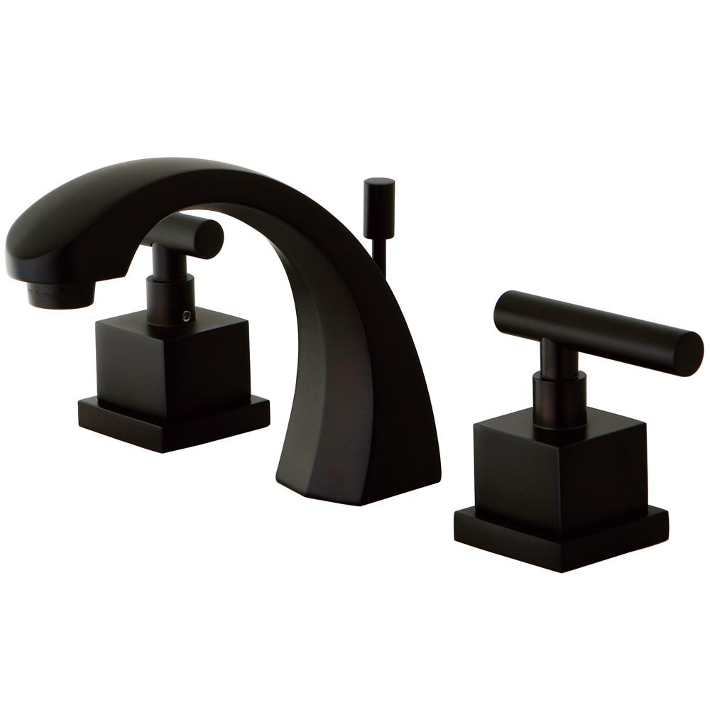 Kingston Brass Claremont Oil Rubbed Bronze Widespread Bathroom Faucet KS4985CQL