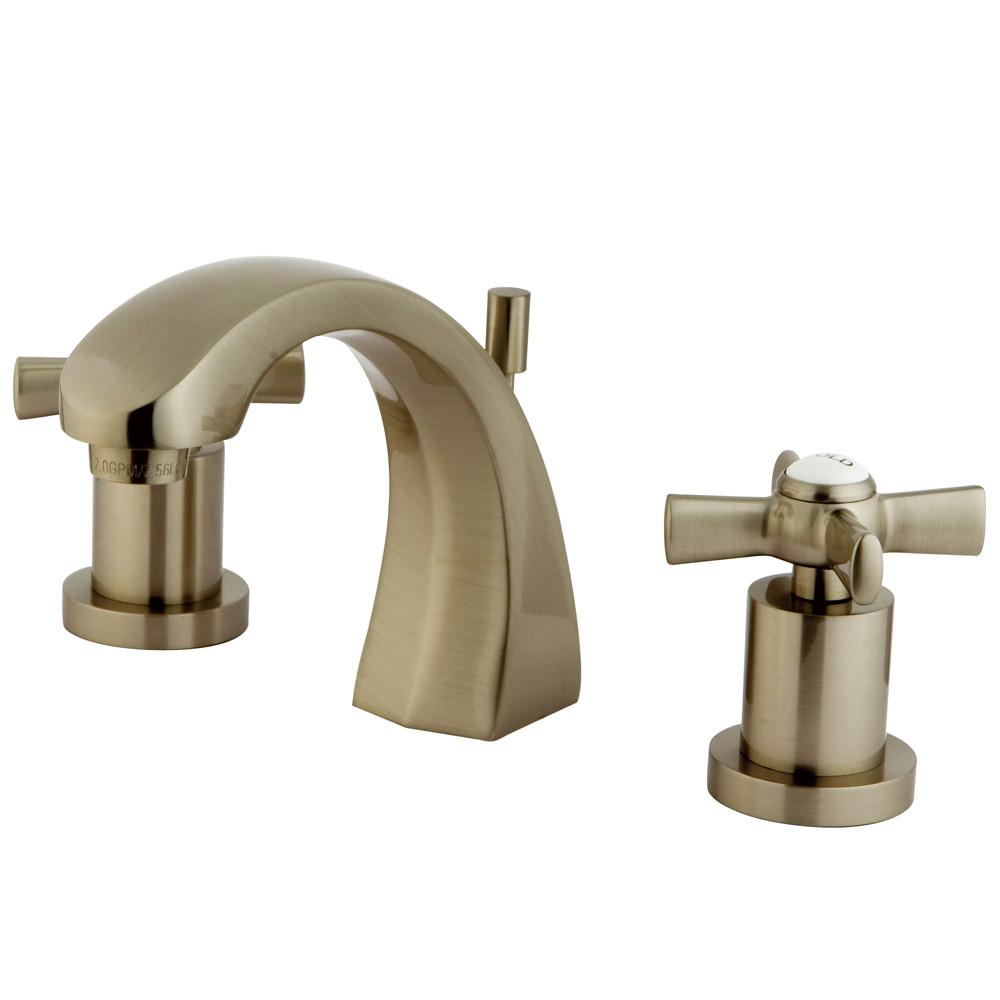 Kingston Brass KS4988ZX Widespread Bathroom Faucet Satin Nickel