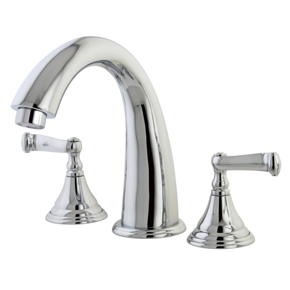 Kingston Brass Chrome Royale Two Handle Roman Tub Filler Faucet KS5361FL