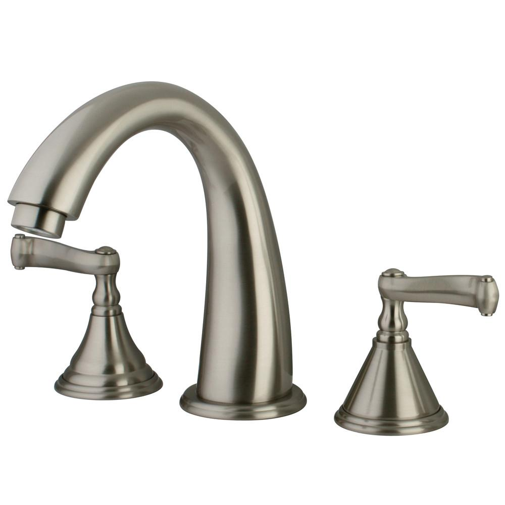 Kingston Brass Satin Nickel Royale Two Handle Roman Tub Filler Faucet KS5368FL