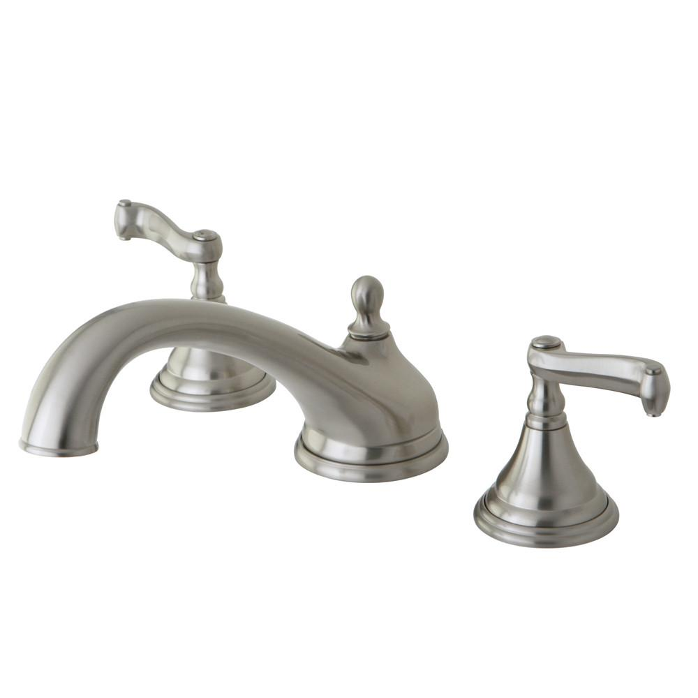 Kingston Brass Satin Nickel Two Handle Roman Tub Filler Faucet KS5538FL