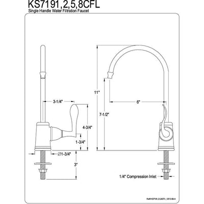Century Oil Rubbed Bronze Kitchen Sink Water Filtration Faucet KS7195CFL