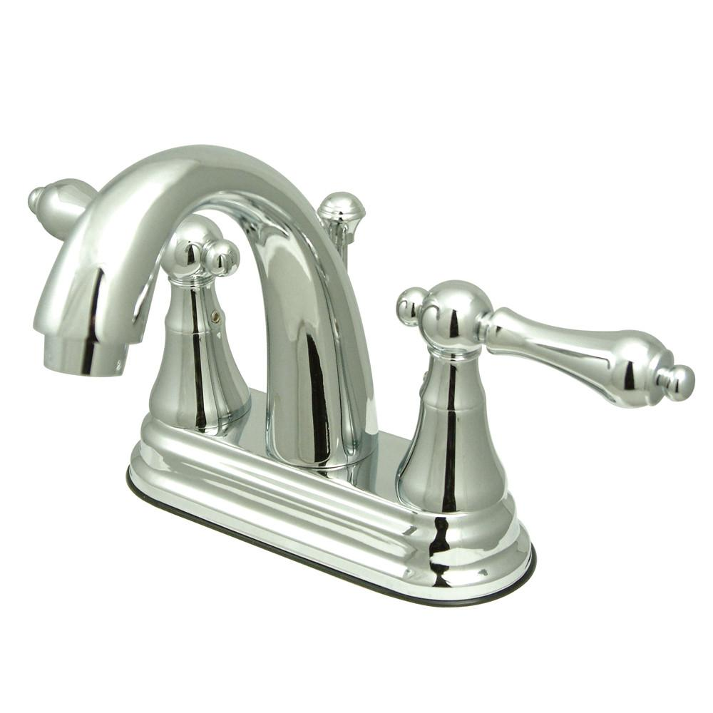 "Kingston Brass Chrome 2 Handle 4"" Centerset Bathroom Faucet w Pop-up KS7611AL"