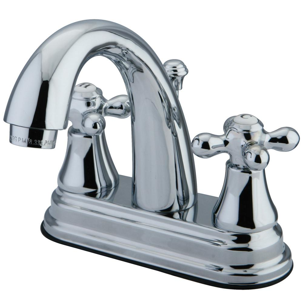 "Kingston Brass Chrome 2 Handle 4"" Centerset Bathroom Faucet w Pop-up KS7611AX"