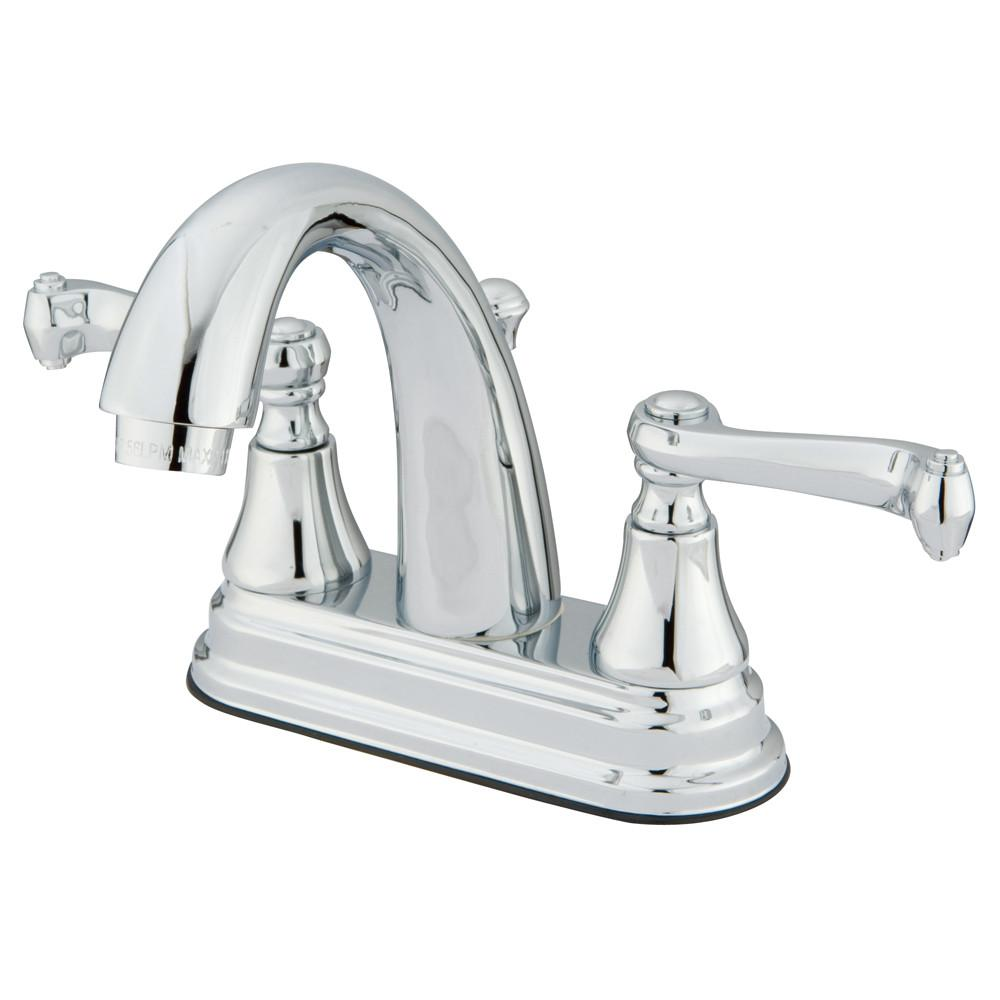 "Kingston Brass Chrome 2 Handle 4"" Centerset Bathroom Faucet w Pop-up KS7611FL"