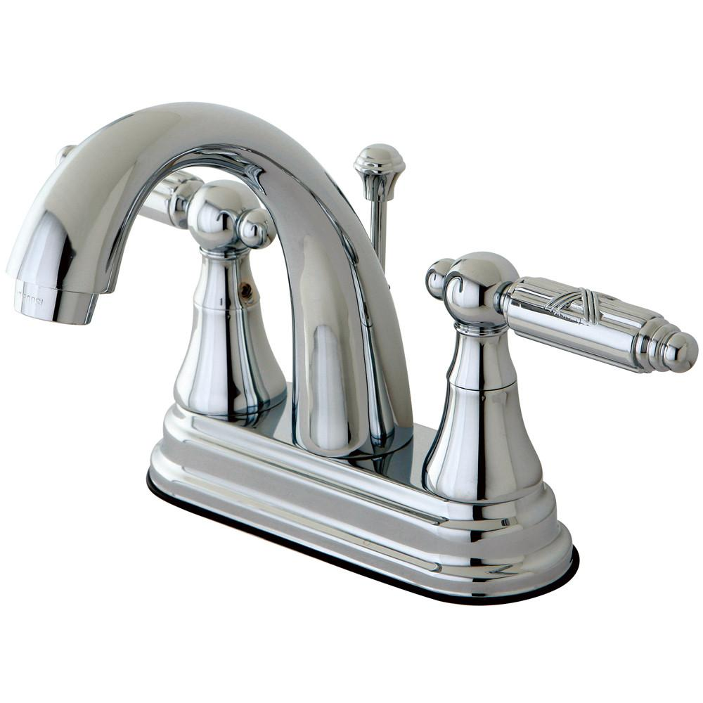 "Kingston Brass Chrome 2 Handle 4"" Centerset Bathroom Faucet w Pop-up KS7611GL"