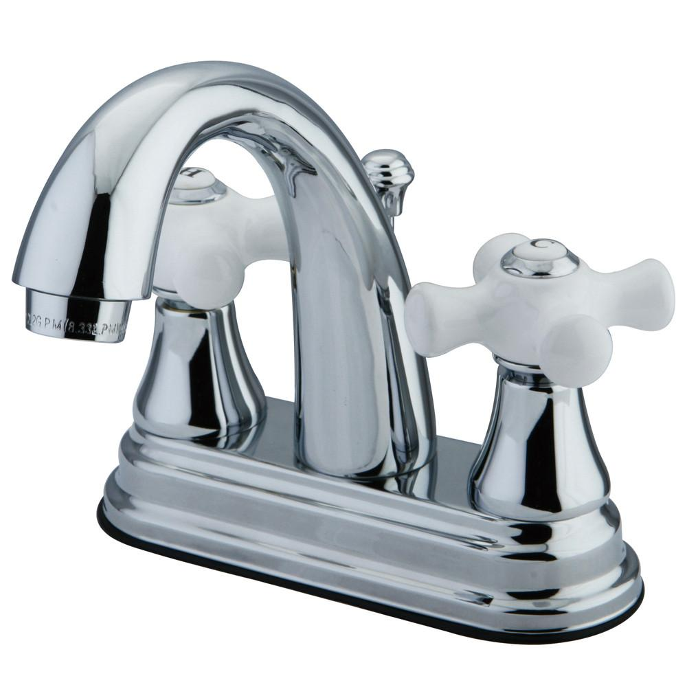 "Kingston Brass Chrome 2 Handle 4"" Centerset Bathroom Faucet w Pop-up KS7611PX"