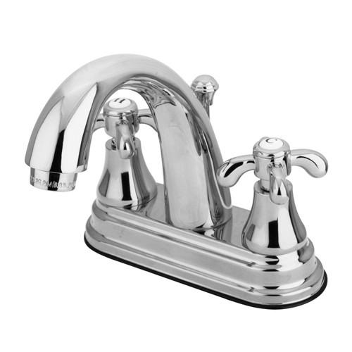 "Kingston Brass Chrome French Country 4"" Center Set Bathroom Faucet KS7611TX"