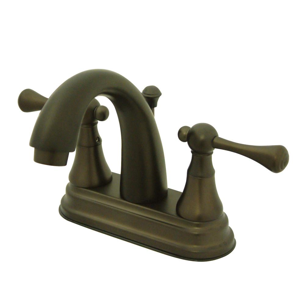 "Kingston Oil Rubbed Bronze English Vintage 4"" Centerset Bathroom Faucet KS7615BL"