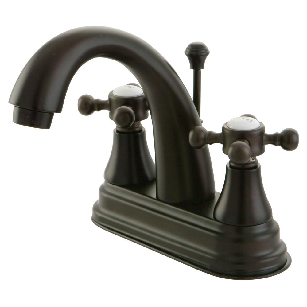 "Kingston Oil Rubbed Bronze 2 Handle 4"" Centerset Bathroom Faucet KS7615BX"