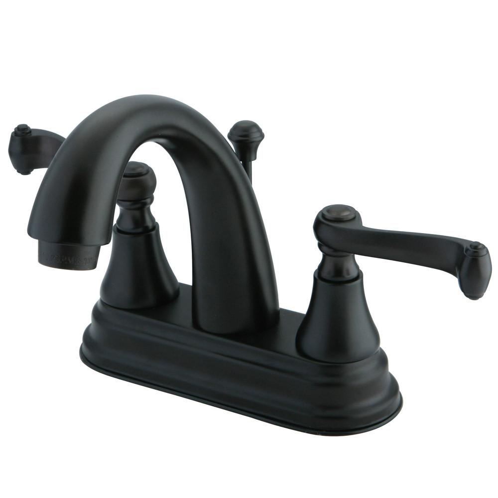 "Kingston Oil Rubbed Bronze 2 Handle 4"" Centerset Bathroom Faucet KS7615FL"