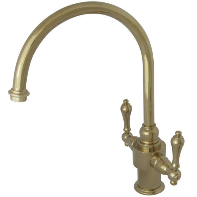 Kingston English Country Polished Brass Kitchen Faucet KS7712ALLS
