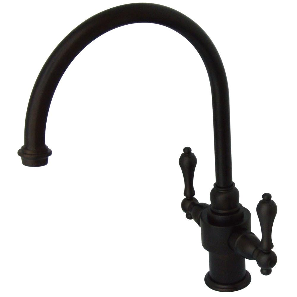 Kingston English Country Oil Rubbed Bronze Kitchen Faucet KS7715ALLS