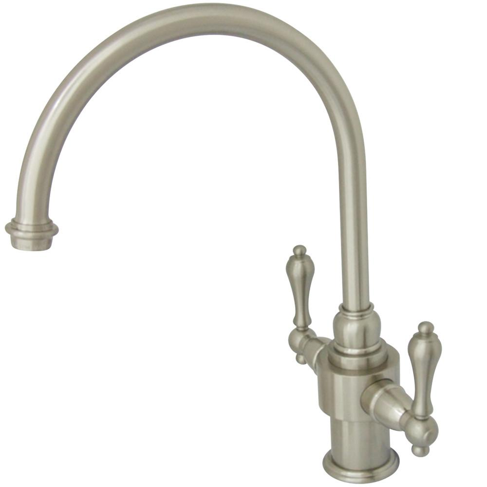Kingston English Country Satin Nickel Kitchen Faucet without Sprayer KS7718ALLS
