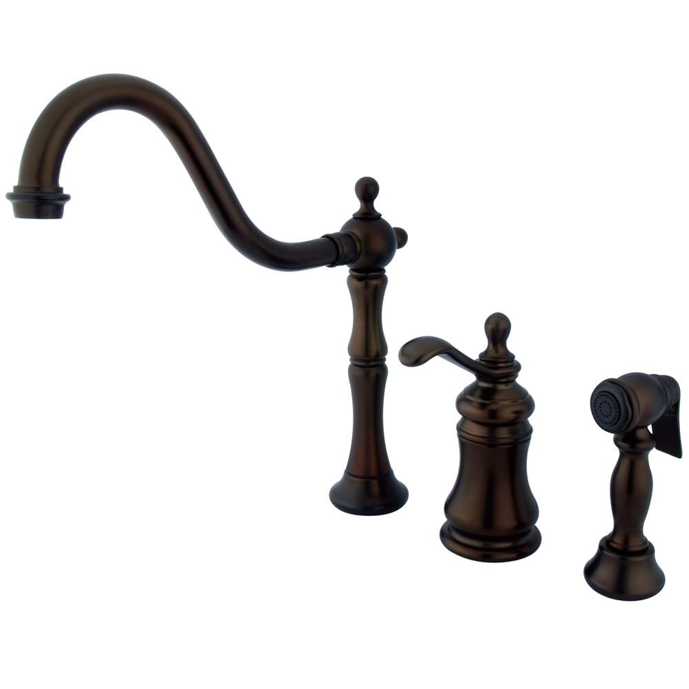 Kingston Oil Rubbed Bronze Templeton Widespread Kitchen Faucet KS7805TPLBS