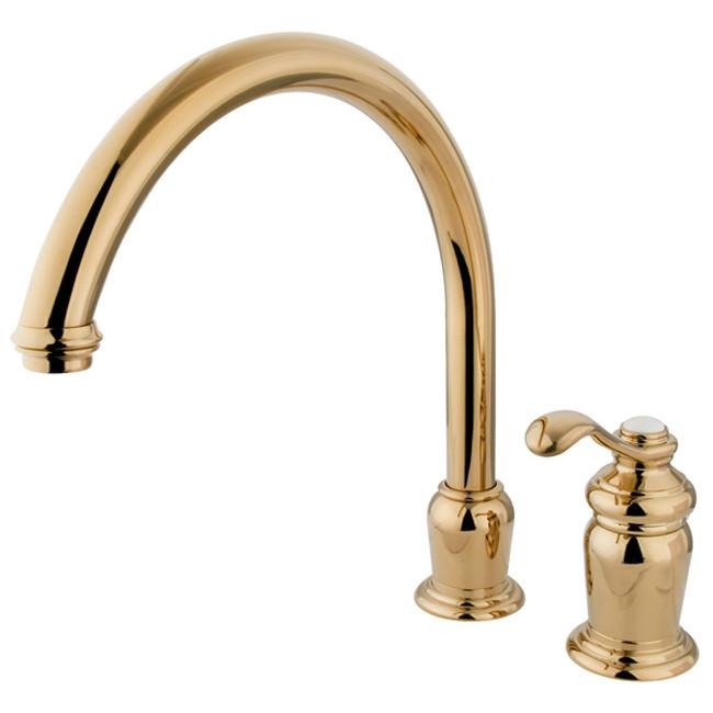 Kingston Brass Polished Brass Templeton High Spout Kitchen Faucet KS7822TLLS