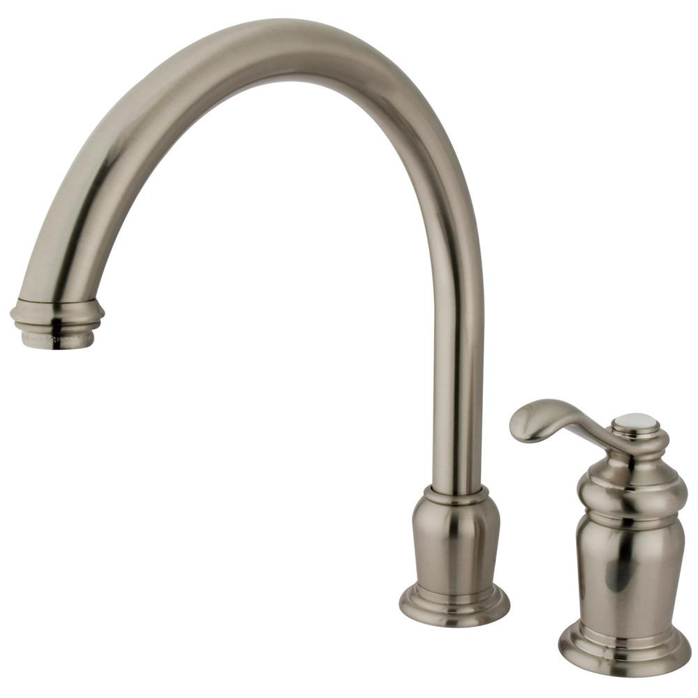 Kingston Brass Satin Nickel Templeton High Spout Kitchen Faucet KS7828TLLS